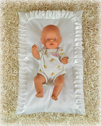 Poduszka do chrztu, z falbanką 1